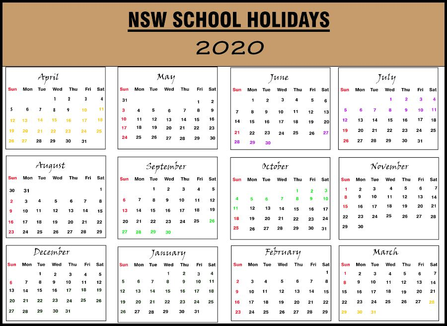 NSW School Holidays